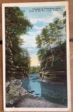 Vintage Postcard Depicting Steamboat Rock At Wisconsin Dells Postmarked 1923