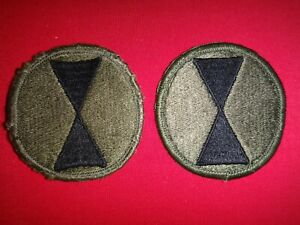 2 US Army 7th INFANTRY Division Subdued Patches