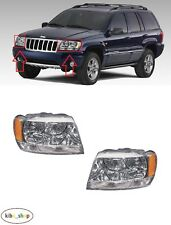 FOR JEEP GRAND CHEROKEE WJ 1999 - 2004 NEW FRONT HEADLAMPS PAIR L + R LHD