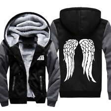 Walking Dead Wings Warm Hoodies Mens TV Jacket Fleece Winter Thick Sweatshirts