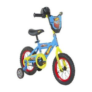 """Dynacraft 12"""" Boys' Hot Wheels Kids Bike, Sky Blue"""