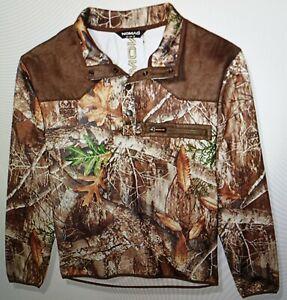 Men's Nomad Slaysman, Realtree Edge/Green,  Pop Over Camo, Fleece Sweater, XXXL