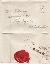 # 1784 NEWPORT ISLE OF WIGHT 2/LINE PMK LETTER I? EDWARDS > RIDDING WINCHESTER