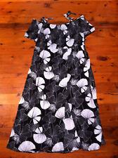 3c49ab63855 AVELLA BLACK WHITE FLORAL STRAP SLEEVE DRESS SIZE  20 BNWOT