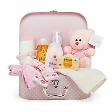 Baby Gift Set - Pink Hamper Full of Baby Products in a Baby Girl Keepsake Box
