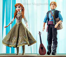 "NEW 2015 Disney Limited Edition Frozen 17"" Dolls Anna & Kristoff Set MIB"