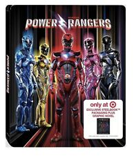 POWER RANGERS(BLU-RAY+DVD+DIGITAL HD)LIMITED-EDITION STEELBOOK EXCLUSIVE TARGET