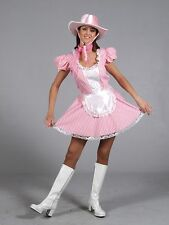Sexy Pink Cowgirl Western Fancy Dress Costume Ex Hire Quality Size 8 - 10 P8952