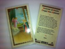 HOLY PRAYER CARDS FOR SAINT GABRIEL ARCHANGEL SET OF 2 IN SPANISH FREE SHIP US!