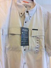 New Men's FIELD & STREAM Travel Shirt UV Protection Tan Khaki Beige XXL 2X $60