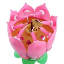 Low Price Lotus Flower Candle Musical Blossom Candles Birthday Happy Party U8Z6