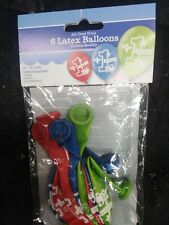 6 Pack Latex Balloons 1st Birthday Boy Girl Helium Quality All Over Print