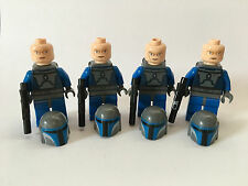 Lego Star Wars LOT 4 MANDALORIAN BLUE TROOPERS Minifigures #7914 Battle Pack