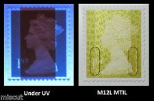 2012 - M12L + MTIL - 1st Class GOLD SINGLE STAMP  WITH SHORT BANDS BASE