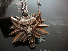 WITCHER MEDALLION Wolf Head with NECKLACE CHAIN RARE! from WITCHER 2 XBOX game