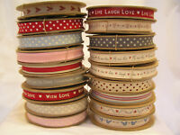 1m, 3m or 5m East of India Beautiful Ribbon Lots of Designs Dotty Shabby Chic