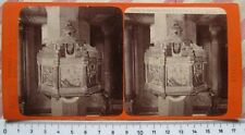 Stereophoto Firenze Pulpito in marmo a Firenze - Ed. G. Brogi - 1800