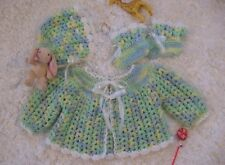 "CROCHET PATTERN for ""GUMDROPS"" Baby Sweater Set BY REBECCA LEIGH--6/12 months"