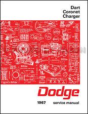 1967 Dodge Charger Coronet Dart Shop Manual Repair Service Book