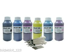 6x250ml Pigment refill ink for Epson 77 78 Stylus Photo RX580 RX595 RX680 R260
