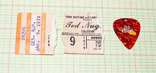 Ted Nugent  ticket stub and guitar pick  1-9-1979 Birmingham, Alabama #09295