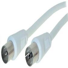 5 m Antennenkabel Antennen Kabel Weiß doppelt geschirmt HD TV digital Koaxial 5m