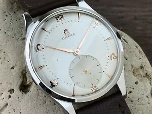 OMEGA BIG JUMBO 2609 CAL.265 OVERSIZED DRESS WATCH DIAL FROM 1950