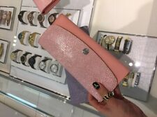 NWT authentic michael kors juliana pale pink long flap wallet 3-in-1 clutch