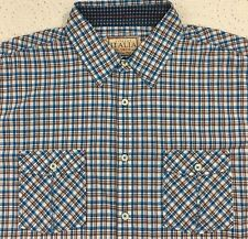 Vintage ITALIA Mens Multi-Color Checked S/S Shirt M Medium NWT $79.50 New NICE!