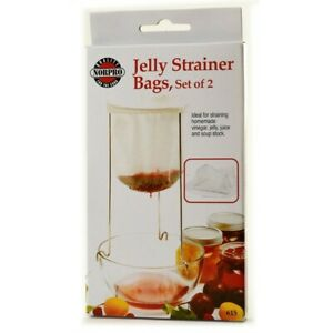 Norpro Jelly Strainer Bags Set of 2 Polyester/Cotton Blend #615