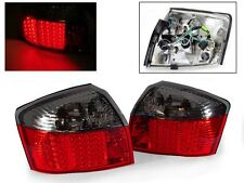 DEPO Red Smoke LED Tail Lights For 2002-2005 Audi A4 S4 B6 8E 4D Sedan Quattro
