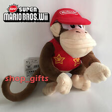 Super Mario Donkey Kong Country Returns Plush Diddy Kong Soft Toy Doll Teddy 7""