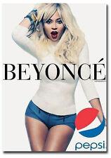 "Beyonce With Pepsi Cola Advertising Fridge Magnet Size 2.5"" x 3.5"""