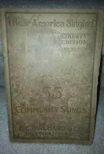 I Hear America Singing Liberty1918 Birchard & Co Boston Christian Religion Music