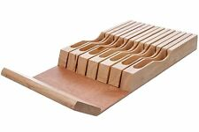 Cooking Pleasures In-Drawer Bamboo Knife Block Fits 13 Knives, FREE 3 DAY SHIP