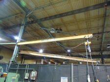 Handling Systems 1 Ton Column Mounted Jib Crane 25 Long With 1 Ton Electr Hoist