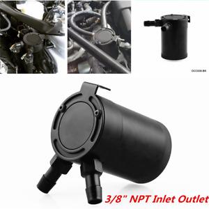 2-port Oil Catch Can Tank Air-oil SeparatorRacing Baffled Aluminum Universal