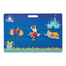 🐘Disney Minnie Mouse - Main Attraction Pin Set Dumbo Flying Elephant -Limited🐘