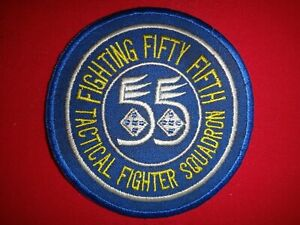 US Air Force 55th TACTICAL FIGHTER Squadron FIFTY FIFTH Patch