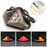 Clignotants LED Feu arrière intégrés pour Kawasaki ER-6 N/F 2012-2014 Smoke AF