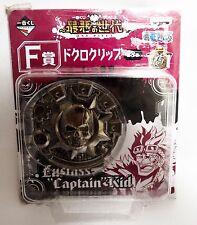 One Piece Metal Skull Pirate Money or Belt Clip. Official Banpresto from Japan
