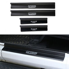 Aluminum 4 Door Sills Entry Guards Scuff Plate Black For Jeep Wrangler JK 07-16