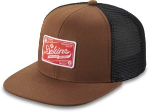 Dakine HQ Trucker Snapback Cap Unisex Tortoise Shell Brown New Flat Brim Hat