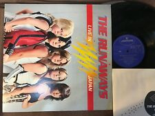 THE RUNAWAYS Live In Japan JAPAN LP  RJ-7249 w/INSERT NO POSTERS,NO OBI  Free SH