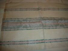TAPESTRY / UPHOLSTERY  FABRIC 1 PIECE  1/2 YARD IVORY GREEN FLORAL DESIGN NEW