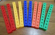 New Eta Cuisenaire Popcubes Pop Cubes 100 set 5 Colors Mathematics Home School