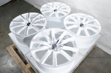 "18"" Wheels Ford Mustang Accord Civic CrV Pilot Is250 Camry Rav4 White Rims 5 Lug"
