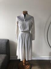 New listing Vintage Cotton Gauze Crochet Dress Ivory Xs S Prairie