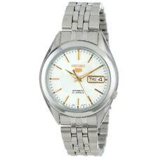 Seiko 5 SNKL17 K1 White Dial Stainless Steel Men's Automatic Analog Watch