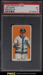 1909-11 T206 Joe Dunn BROOKLYN PSA 5 EX